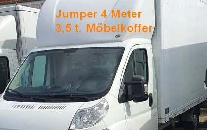 Jumper sehr hoher Koffer ohne Ladebordwand 131 PS 2,2l. Diesel   -- Achtung: Selbstbeteiligung bei Abschluss Haftungsbegrenzung 1150€ -- Tarife gelten ausschließlich bei Onlinebuchung !