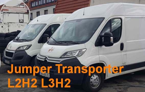 Jumper Transporter L2H2 + L3H2 3 Sitze, Trennwand, Anhängekupplung, viele Extras, Klima, z.T. Navi, Tempomat  --- Nutzung der Anhängekupplung gegen  Aufpreis -- Tarife gelten ausschließlich bei Onlinebuchung !