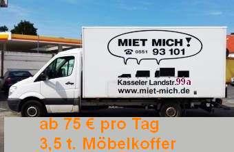 DB 313D Koffer Sprinter Diesel ohne Ladebordwand. Alle Tarife nur bei Onlinebuchung gültig